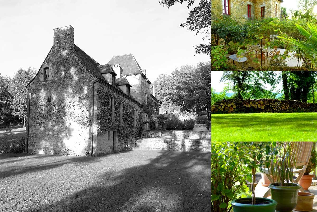 Le jardin du manoir du rocher en dordogne p rigord noir for Chambre de charme dordogne