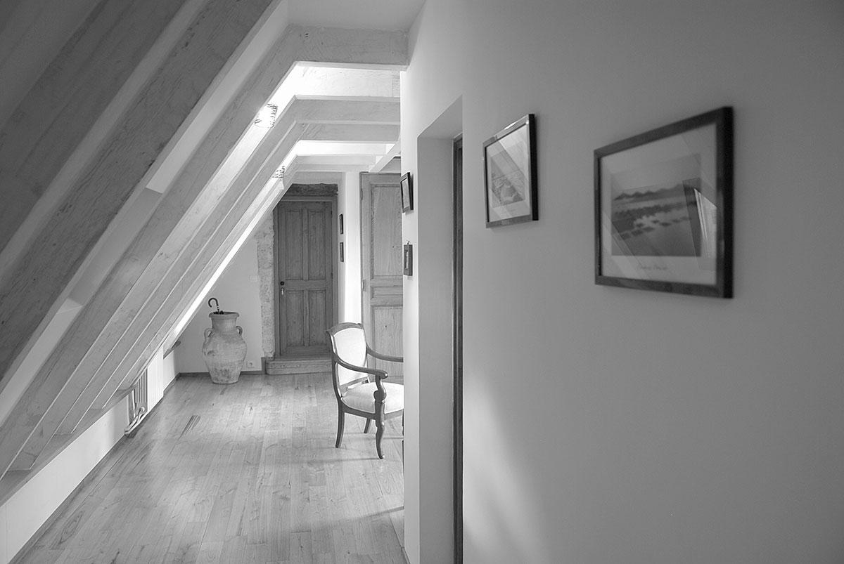 côté salon d'une suite dans des chambres d'hotes de charme